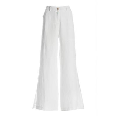 Boston Proper - Linen Side-Slit Pant - White - 06