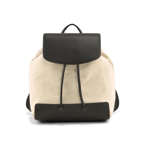 TOM TAILOR Damen Ines Rucksack mit Überschlag, schwarz, Gr.OneSize