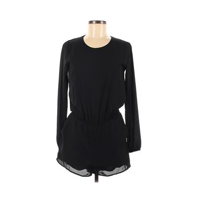Lucca Couture Romper: Black Solid Rompers - Size X-Small