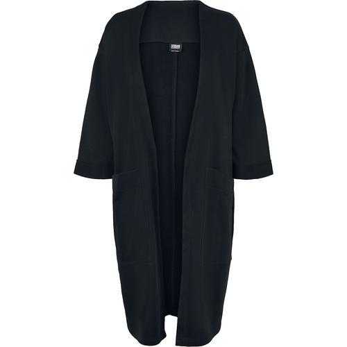 Urban Classics Ladies Oversized Terry Cardigan Damen-Cardigan - schwarz