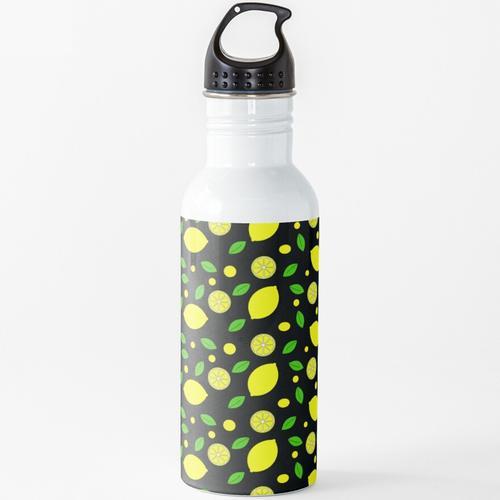 Zitronen Wasserflasche