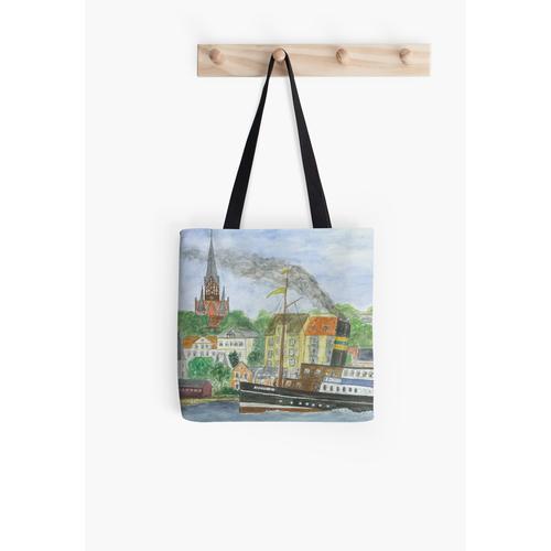 Der Flensburger Hafen mit der Alexandra Tasche