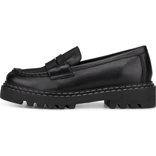 COX, Plateau-Slipper in schwarz, Slipper für Damen Gr. 38