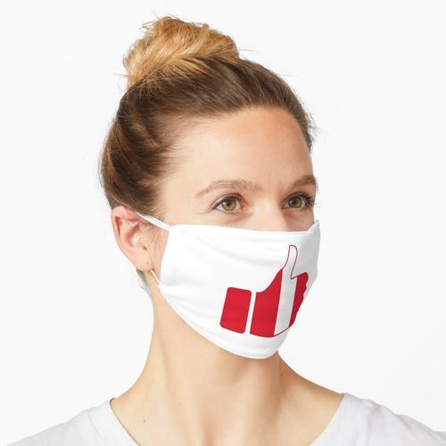 Fahnen-Daumen von Peru Maske
