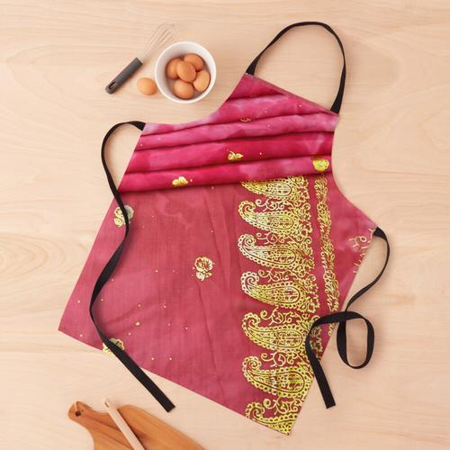 Rosa und Gold indische Sari Braut Brautkleid Schürze