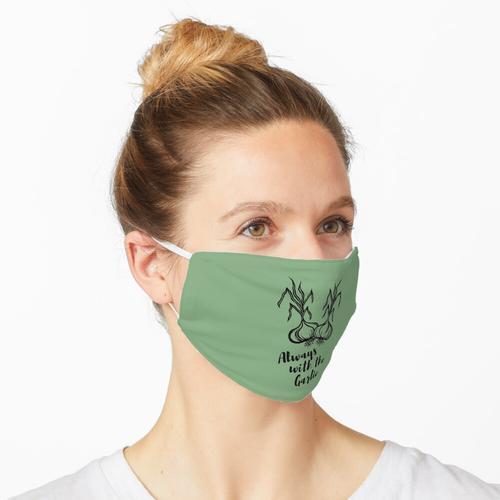 Immer mit dem Knoblauch   Knoblauchknollen Design Maske