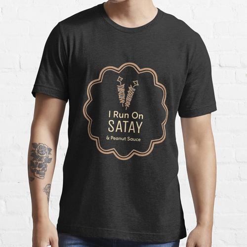 Ich laufe auf Satay und Erdnusssauce (Dutch Indo) Essential T-Shirt