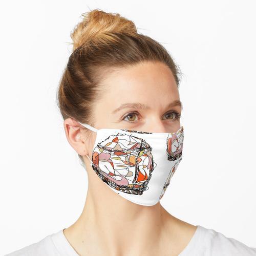 Abstrakte Salzlampe Maske