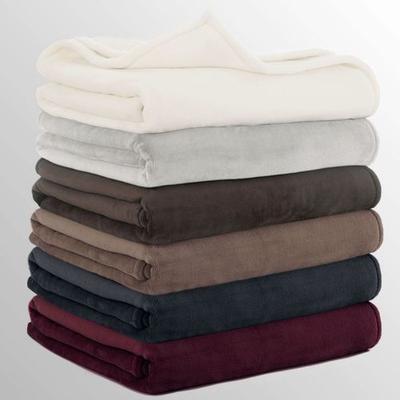 Vellux Sheared Mink Blanket, Twin, Plum
