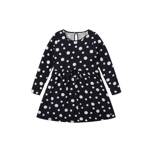 TOM TAILOR Mädchen gepunktetes Kleid, schwarz, Gr.104/110