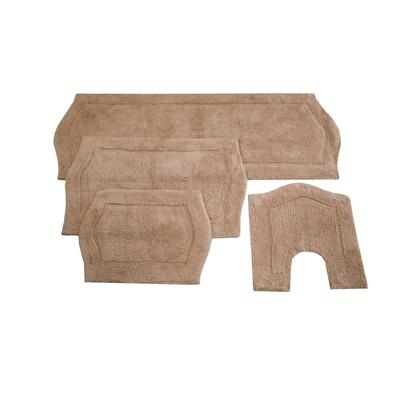 Waterford 4-Pc. Bath Rug Set Blue by Home Weavers Inc in Linen (Size 4 RUG SET)