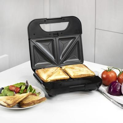 Kalorik 4-in-1 Sandwich Maker, Stainless Steel and Black by Kalorik in Stainless Steel
