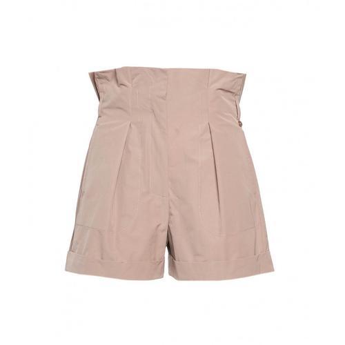 Liu Jo Damen Paperbag Shorts Beige