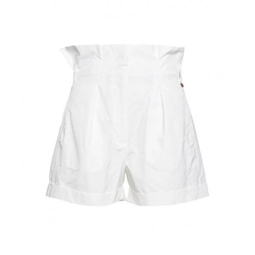 Liu Jo Damen Paperbag Shorts Weiß