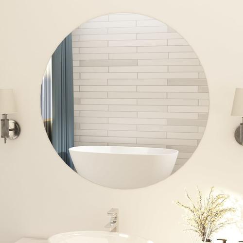 vidaXL Rahmenloser Spiegel Rund 90 cm Glas