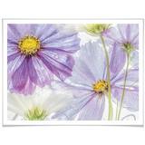 Wall-Art Poster Frozen Flowers, Blumen, (1 St.) bunt Bilder Bilderrahmen Wohnaccessoires