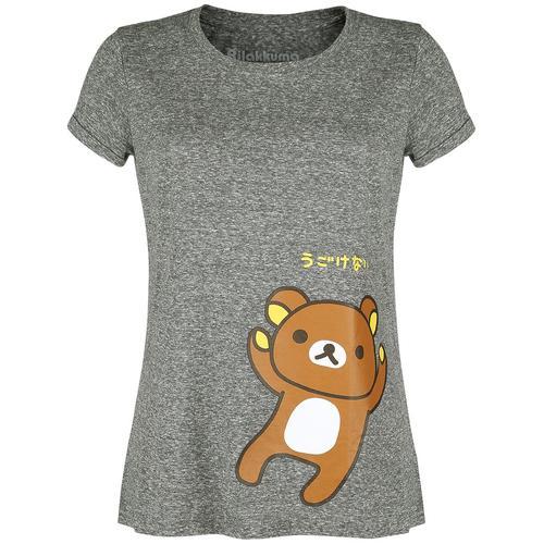 Rilakkuma Rilakkuma Damen-T-Shirt - grau - Offizieller & Lizenzierter Fanartikel