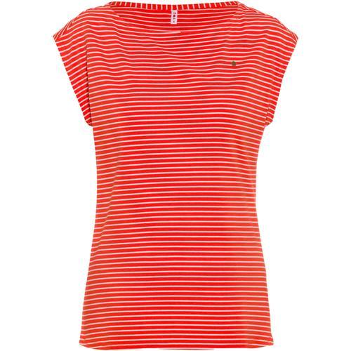 Blutsgeschwister T-Shirt Damen in red tiny stripe, Größe S