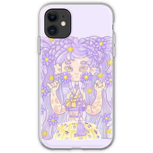 Glitterful Hanbok Girl - purple, by Dampfnudel Flexible Hülle für iPhone 11