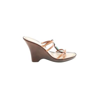Italian Shoemakers Footwear Mule/Clog: Brown Solid Shoes - Size 5
