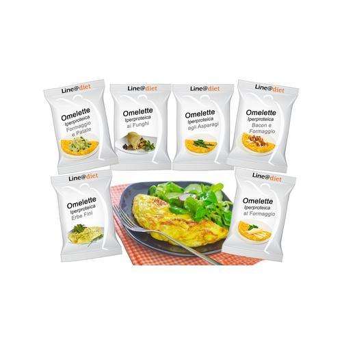 Protein-Omelett: Käse und Pilze und Kräuter / 30