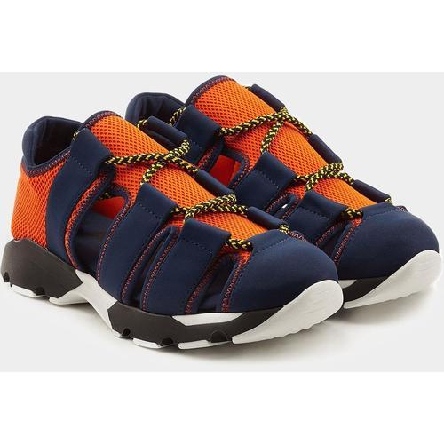 Marni Sneaker aus Samt mit Klettverschluss