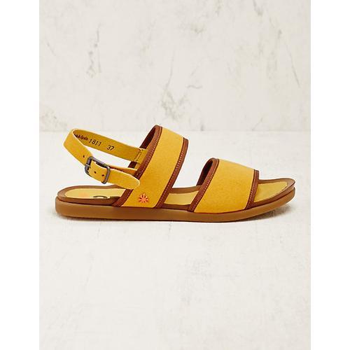 art Damen Vegan-Sandalen Asdis gelb-braun sandaletten
