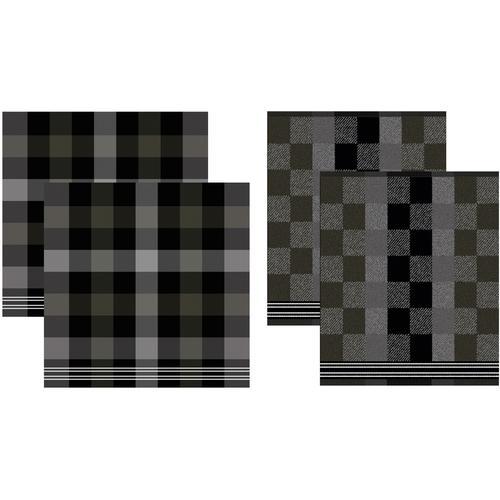 DDDDD Geschirrtuch Feller, (Set, 4 tlg., Combi-Set: bestehend aus 2x Küchentuch + Geschirrtuch) grau Geschirrtücher Küchenhelfer Haushaltswaren