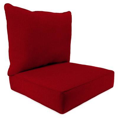 Outdoor 2PC Deep Deat Chair Cushion-MCHUSK BERRY RICHLOOM - Jordan Manufacturing 9740PK1-5511D