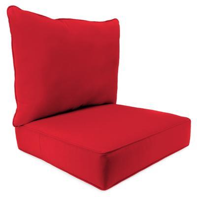 Outdoor 2PC Deep Seat Chair Cushion- Sunbrella CANVAS JOCKEY ACR RED ACR GLEN RAVEN - Jordan Manufacturing 9740PK1-873H