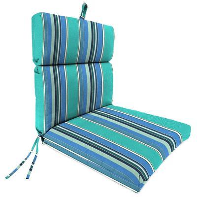 Outdoor French Edge Dining Chair Cushion- Sunbrella DOLCE STR OASIS ACR GLEN RAVEN - Jordan Manufacturing 9502PK1-594H