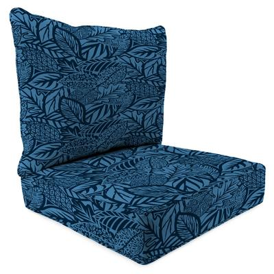 Outdoor 2PC Deep Deat Chair Cushion-MAVEN CAPRI - Jordan Manufacturing 9740PK1-6636D
