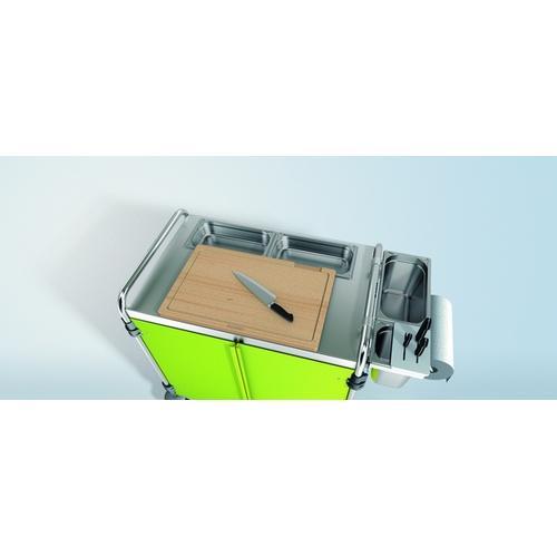 Blanco Schneidbrett Holz 1/1 aus massiver Buche mit Saftrinne Schneidbrett Holz 1/1