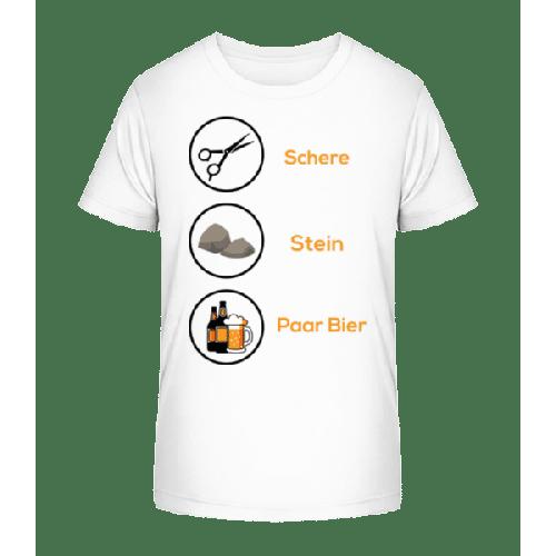 Schere Stein Paar Bier - Kinder Premium Bio T-Shirt