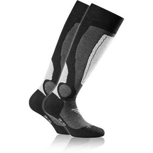 ROHNER Socken rohner basic ski 2er pack, Größe 43-46 in hellgrau