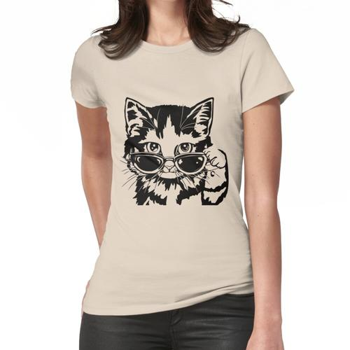 Cat in Glasses Brille Klassisches T-Shirt Frauen T-Shirt