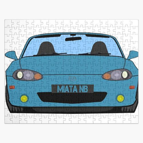 Kristallblauer Metallic NB Miata Roadster Puzzle