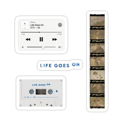 BTS BE Life Goes On sticker pack Sticker