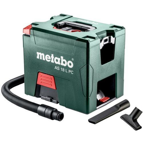 Metabo Akku-Sauger AS 18 L PC, 18V, Karton, mit manueller Filterreinigung, ohne Akkupack und