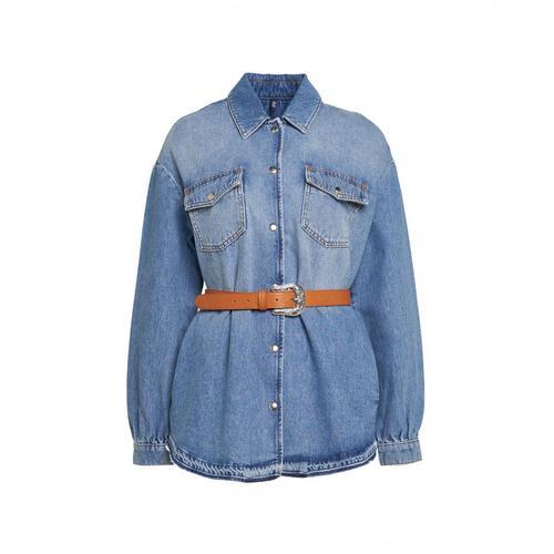 Liu Jo Damen Hemd in Denim Blau