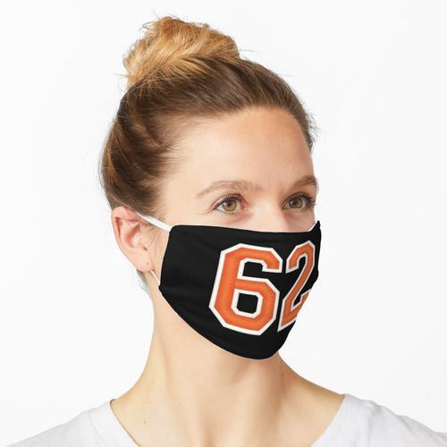 Sport Nummer 62 Trikot Zweiundsechzig Orange Maske