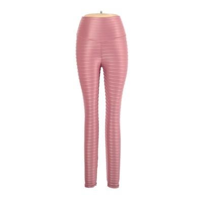 ABS2B Fitness Apparel Active Pants - High Rise: Pink Activewear - Size Large