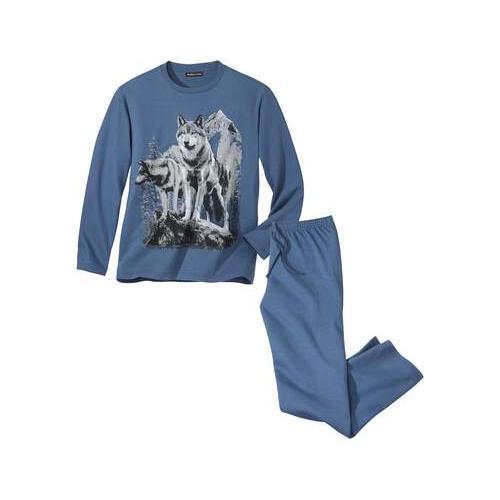 Bedruckter Schlafanzug Wölfe