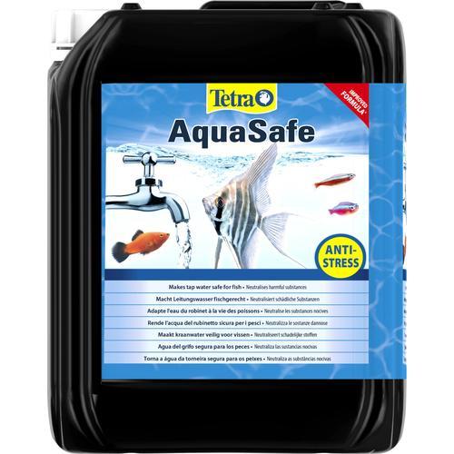Tetra Aquariumpflege AquaSafe, 5 Liter blau Aquarium-Pflege Aquaristik Tierbedarf
