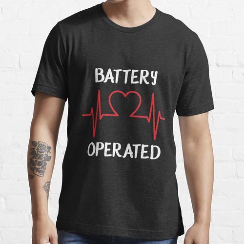 Schrittmacher-T-ShirtBatterie-betriebener Herzschlag-Schrittmacher, der mit einem Essential T-Shirt