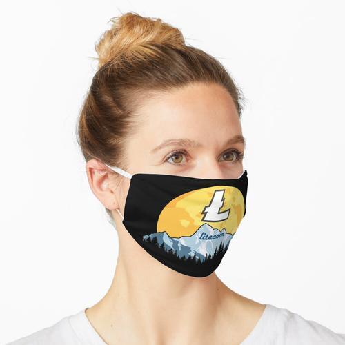 Litecoin LTC zum Mond Maske