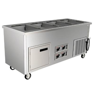 """Delfield SFW-3-NU 60"""" Hot/Cold Portable Buffet w/ (3) Hot/Cold Well, 120v/208-240v/1ph"""
