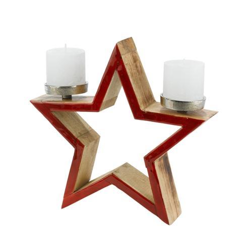PureDay Kerzenhalter, Stern Kerzen
