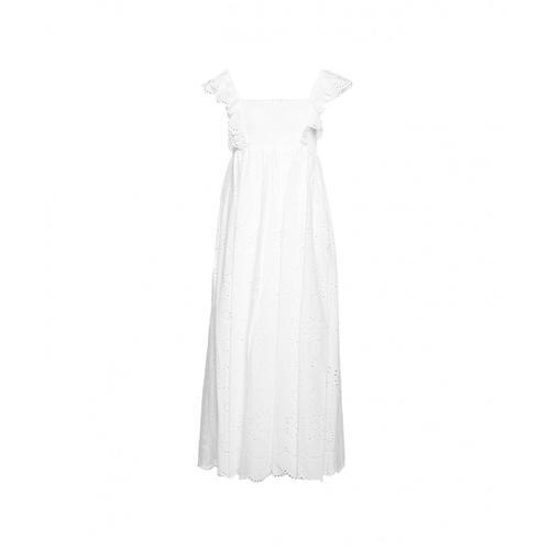 Twin Set Damen Kleid in Spitze Weiß
