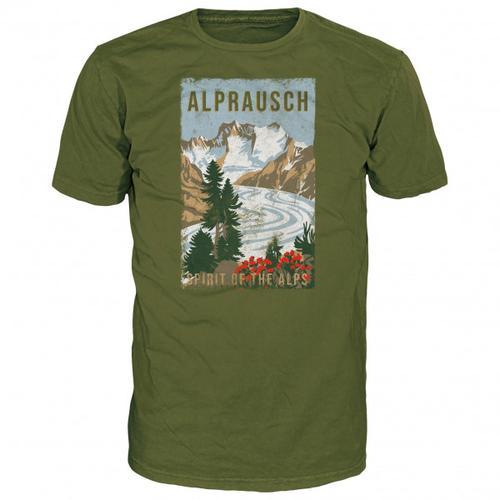 Alprausch - Gletschersicht T-Shirt Gr XL oliv